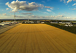 Eye Airfield in Suffolk, England from above. This is the site proposed for the new gas turbine power station.