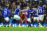 Steven Naismith of Everton celebrates his opening goal - Everton vs. Leicester City - Barclay's Premier League - Goodison Park - Liverpool - 22/02/2015 Pic Philip Oldham/Sportimage
