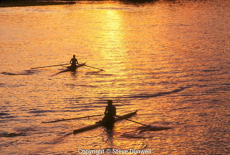 Rowing, Charles river, Harvard