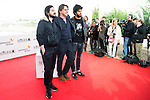 "Victor Dreyre Pro, Raul Cerezo and Emiliano Rocha pose to the media during the presentation of the film ""Blood Red Carpet"" at Festival de Cine Fantastico de Sitges in Barcelona. October 13, Spain. 2016. (ALTERPHOTOS/BorjaB.Hojas)"
