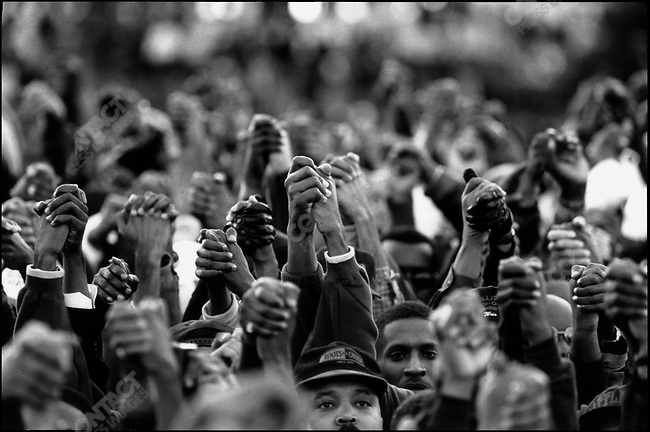 Million Man March, organized by Louis Farrakhan and The Nation of Islam. Washington DC, USA, October 16, 1995