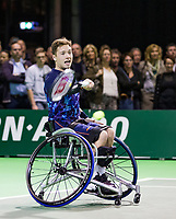 Rotterdam, The Netherlands, 14 Februari 2019, ABNAMRO World Tennis Tournament, Ahoy, Wheelchair final doubles, Gorden Reid (GBR), <br /> Photo: www.tennisimages.com/Henk Koster