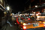 A taxi stops in the Higashiyama District of Kyoto on January 16, 2016, in Kyoto, Japan. The Japan National Tourism Organization reported on Tuesday a record increase in foreign visitors in 2015. Approximately 19.73 million people visited Japan from abroad, up 47.3 percent compared with 2014 and almost four times the 5.21 million that came in 2003. According to the report there were more Chinese visitors than from any other nation with 4.99 million coming in 2015. South Korea (4 million) and Taiwan (3.67 million) were next on the list, and over 1 million Americans also visited Japan in 2015. The number of visitors is the highest in 45 years and already close to Japan's goal of attracting 20 million foreign visitors in a year by 2020. (Photo by Rodrigo Reyes Marin/AFLO)