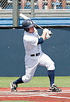 April 28, 2012:   Nevada Wolf Pack's Joe Kohan hits a two RBI triple to left center field against the Fresno State Bulldogs during their NCAA baseball game played at Peccole Park on Saturday afternoon in Reno, Nevada.
