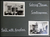 BNPS.co.uk (01202 558833)<br /> Pic: DavidDuggleby/BNPS<br /> <br /> Inside Gorings home in Berchtesgaden.<br /> <br /> This amazing photo album reveals the close knit alpine community where Hitler and his henchmen worked and played.<br /> <br /> The album was brought back to Britain by a British administrator of the railways in post war Germany and reveals the cosy living arrangements of the high ranking Nazi's of Hitlers Third Reich.<br /> <br /> It shows the homes of Hitler, Martin Boorman and Hermann Goering in tiny Berchtesgaden in Bavaria, and also the infamous Eagles Nest on a mountain top nearby where the evil dictator would dream his dreams whilst taking in the stunning vista.<br /> <br /> The unique album is being sold by David Duggleby auctioneers in Scarborough on the 7th October.