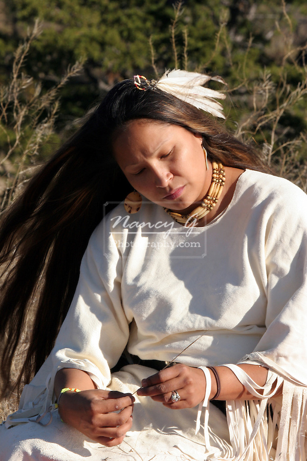 A young Native American Indian Woman
