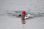 Tony Molloy finishes at the Green Buoy 1KM Swim in Clogherhead...(Photo credit should read Jenny Matthews/NEWSFILE)...