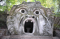 The Park of the Monsters  also Sacred Wood is e located in Bomarzo, Italy. 25 june 2012