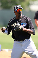 April 1, 2010:  Markus Brisker of the Toronto Blue Jays organization during Spring Training at the Carpenter Complex in Clearwater, FL.  Photo By Mike Janes/Four Seam Images