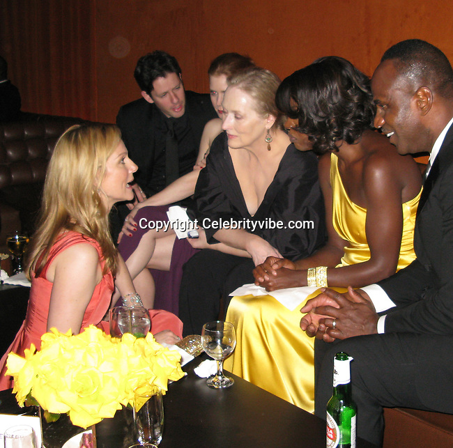 Laura Linney, Meryl Streep and Viola Davis..SAG Awards Post Party.Shrine Auditorium.Los Angeles, CA, USA.Sunday, January 25 2009.Photo By Celebrityvibe.com.To license this image please call (212) 410 5354; or Email: celebrityvibe@gmail.com ;.website: www.celebrityvibe.com  .
