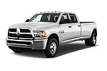 2017 Ram Ram 3500 Tradesman Crew Cab Long 4 Door Pick Up angular front stock photos of front three quarter view