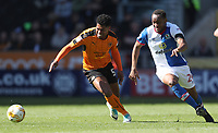 Blackburn Rovers' Ryan Nyambe and Wolverhampton Wanderers' Richard Stearman<br /> <br /> Photographer Rachel Holborn/CameraSport<br /> <br /> The EFL Sky Bet Championship - Wolverhampton Wanderers v Blackburn Rovers - Saturday 22nd April 2017 - Molineux - Wolverhampton<br /> <br /> World Copyright &copy; 2017 CameraSport. All rights reserved. 43 Linden Ave. Countesthorpe. Leicester. England. LE8 5PG - Tel: +44 (0) 116 277 4147 - admin@camerasport.com - www.camerasport.com