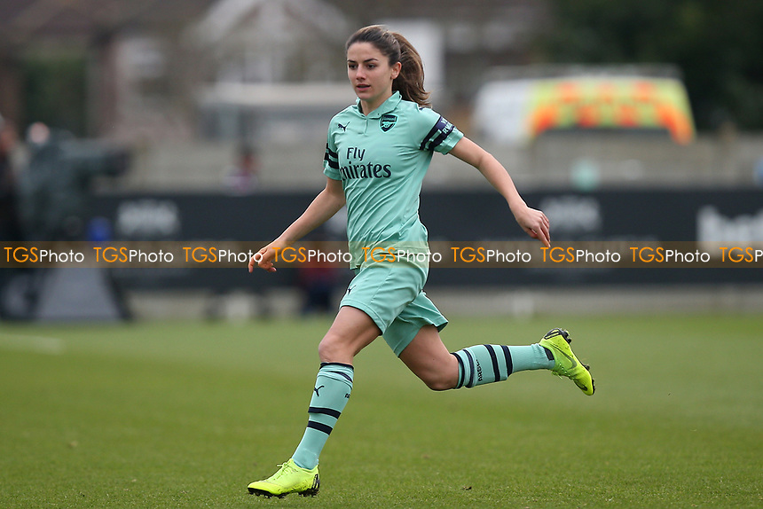 Danielle van de Donk of Arsenal during West Ham United Women vs Arsenal Women, FA Women's Super League Football at Rush Green Stadium on 6th January 2019