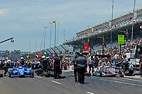 Verizon IndyCar Series<br /> Indianapolis 500 Carb Day<br /> Indianapolis Motor Speedway, Indianapolis, IN USA<br /> Friday 26 May 2017<br /> Semi-finals,  Scott Dixon, Chip Ganassi Racing Teams Honda against Will Power, Team Penske Chevrolet<br /> World Copyright: F. Peirce Williams