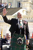 Sir Sean Connery waves to the crowd at the United States Capitol National Tartan Day ceremony.   Connery was at The Capitol in Washington, D.C. to receive the American-Scottish Foundation's William Wallace Award on April 5, 2001..Credit: Ron Sachs / CNP