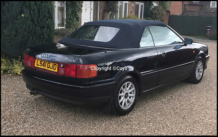BNPS.co.uk (01202 558833)<br /> Pic: Coys/BNPS<br /> <br /> The car Princess Diana personally drove in the final years of her life has emerged for sale. <br /> <br /> The 1994 Audi Cabriolet is expected to sell for £40,000 - a whopping 40 times more than it would be worth without the royal connection. <br /> <br /> Diana is said to have sought after the model having been impressed after borrowing one belonging to the wife of Viscount Linley, Princess Margaret's son. <br /> <br /> The car is being sold by auctioneers Coys of Kensington, London.