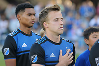 SAN JOSE, CA - AUGUST 24: Tommy Thompson #22 of the San Jose Earthquakes prior to a Major League Soccer (MLS) match between the San Jose Earthquakes and the Vancouver Whitecaps FC  on August 24, 2019 at Avaya Stadium in San Jose, California.
