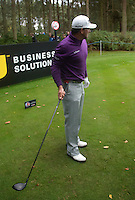 Graeme McDowell of Northern Ireland lines up a shot during a Pro-Am round ahead of the 2015 British Masters at the Marquess Course, Woburn, in Bedfordshire, England on 7/10/15.<br /> Picture: Richard Martin-Roberts   Golffile