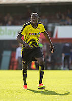 New signing Abdoulaye Doucoure during the Pre Season Friendly match between Woking and Watford at the Kingfield Stadium, Woking, England on 10 July 2016. Photo by Andy Rowland.