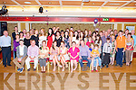 Fiona Brady, Ross Road, Killarney and Aoife Doyle, Lissivigeen, Killarney, pictured with their families and friends as they celebrated their joint 21st birthdays in the Killarney Avenue Hotel, on Friday night.