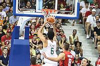 TORONTO, CANADÁ, 25.07.2015 - PAN-BASQUETE - durante partida entre Brasil x Canada valido para final do basquete nos Jogos Panamericanos na cidade de Toronto no Canadá, neste sábado, 25 (Foto: Vanessa Carvalho/Brazil Photo Press)