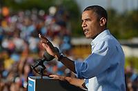 HOLLYWOOD, FL - NOVEMBER 04: US President Barack Obama speaks at a grassroots event at McArthur High School on November 4, 2012 in Hollywood, Florida.   Credit: mpi04/MediaPunch Inc. .<br /> ©NortePhoto