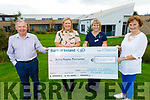 A cheque for €5,000 from Helen Mannix O'Leary of the Derry O'Leary Memorial Fund presented to Aine Moriarty of the Night Nursing Kerry Hospice Foundation on Tuesday. L to r: Joe Hennebry, Helen Mannix O'Leary, Aine Moriarty and Mary Shanahan.