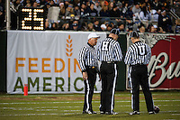 SAN FRANCISCO, CA--Officials at the inaugural Kraft Fight Hunger Bowl at AT&T Park in San Francisco, CA.