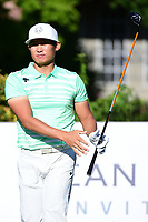 Whee Kim (KOR) watches his tee shot on 15 during the round 1 of the Dean &amp; Deluca Invitational, at The Colonial, Ft. Worth, Texas, USA. 5/25/2017.<br /> Picture: Golffile | Ken Murray<br /> <br /> <br /> All photo usage must carry mandatory copyright credit (&copy; Golffile | Ken Murray)