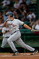Third Baseman Wade Gaynor #14 of the Lakeland Flying Tigers at bat during the game against the Daytona Beach Cubs at Jackie Robinson Ballpark on April 20, 2011 in Daytona Beach, Florida. Photo by Scott Jontes / Four Seam Images