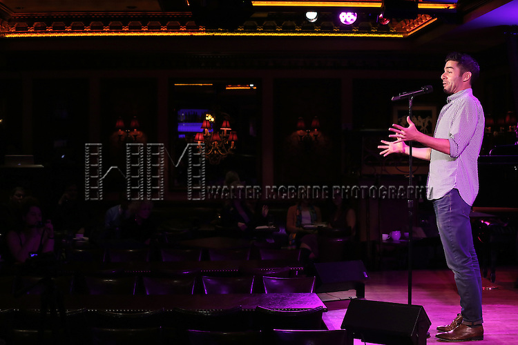 Adam Kantor performs a press preview of 'The Last 5 Years in Concert'  at 54 Below on September 23, 2013 in New York City.