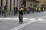 Primoz Roglic (SLO) Team Jumbo-Visma heads out for a practice run before Stage 1 of the 2019 Giro d'Italia, an individual time trial running 8km from Bologna to the Sanctuary of San Luca, Bologna, Italy. 11th May 2019.<br /> Picture: Eoin Clarke | Cyclefile<br /> <br /> All photos usage must carry mandatory copyright credit (© Cyclefile | Eoin Clarke)
