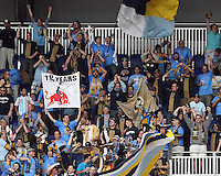 Fans of the Philadelphia Union during a MLS match against the New York RedBulls on April 24 2010, at RedBulll Arena, in Harrison, New Jersey.RedBulls won 2-1.