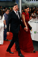 Carlos Bardem and Cecilia Gessa attend red carpet before the Donostia Award  during the 62st San Sebastian Film Festival in San Sebastian, Spain. September 26, 2014. (ALTERPHOTOS/Caro Marin) /NortePHOTO.com /nortephoto.com