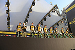 Team Lotto NL-Jumbo on stage at sign on before the 101st edition of the Tour of Flanders 2017 running 261km from Antwerp to Oudenaarde, Flanders, Belgium. 26th March 2017.<br /> Picture: Eoin Clarke | Cyclefile<br /> <br /> <br /> All photos usage must carry mandatory copyright credit (&copy; Cyclefile | Eoin Clarke)