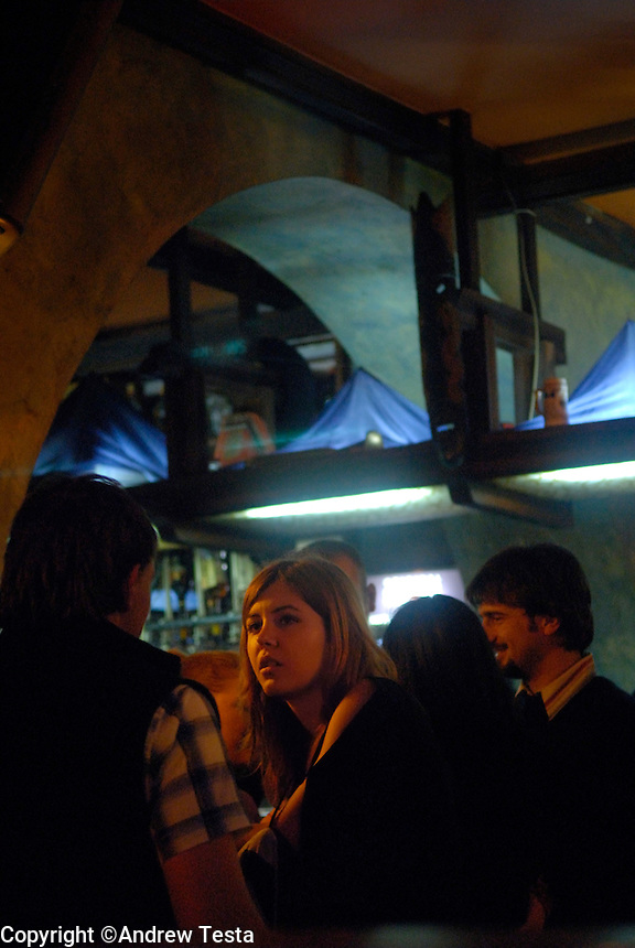 BOSNIA & HERCEGOVINA. Sarajevo. June 2006..The 'City Pub' bar in downtown Sarajevo..©Andrew Testa for Newsweek .