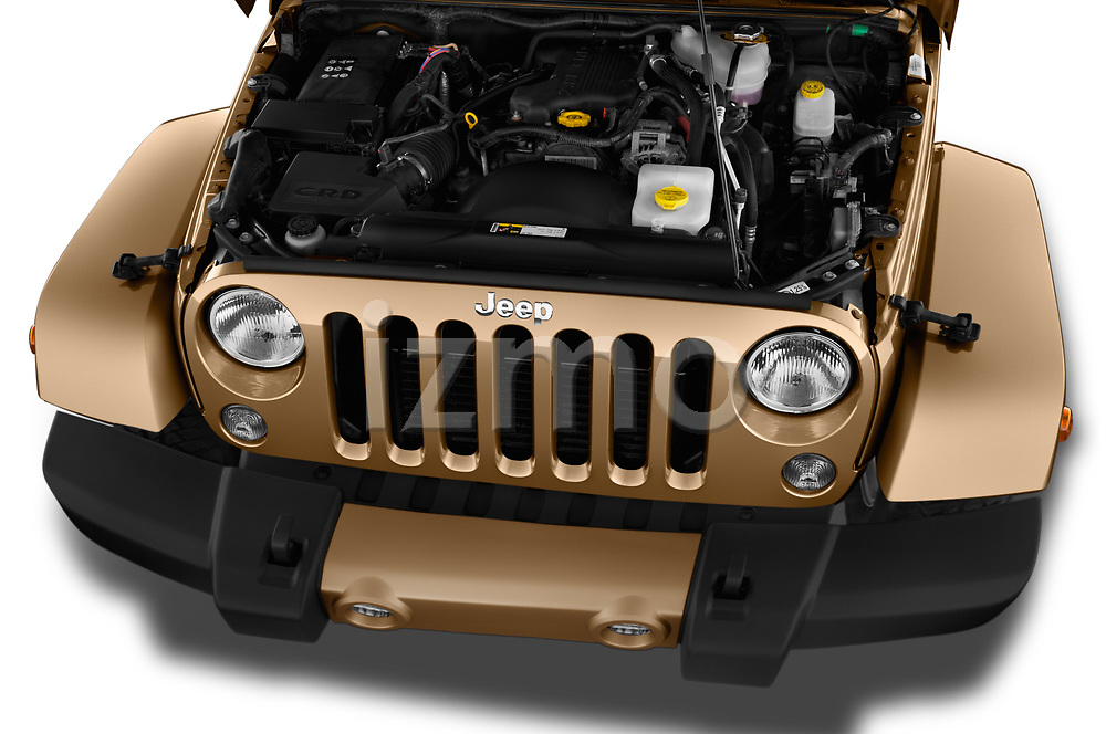 Car Stock 2017 JEEP wrangler Sahara 5 Door SUV Engine  high angle detail view