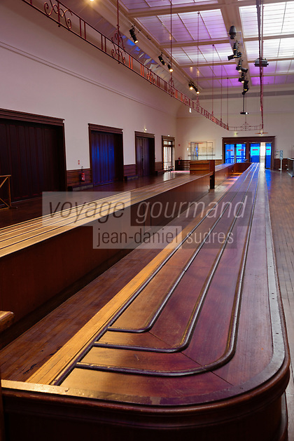 France, Manche (50), Cotentin, Cherbourg, musée Cité de la Mer, site historique de la gare transatlantique - la salle des bagages // France, Manche, Cotentin, Cherbourg, museum Cite de la Mer (city of the sea), historic site where the transatlantic liners departed