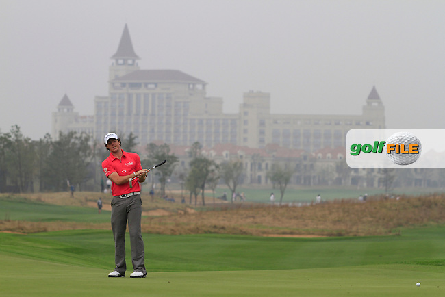 Rory McIlroy (NIR) on the 7th on Day 3 of the BMW Masters 2012 at Lake Malaren Golf Club, Shanghai, China, Tuesday 26/10/12...(Photo www.golffile.ie)