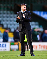 A happy Grimsby Town Manager Michael Jolley at the final whistle during Yeovil Town vs Grimsby Town, Sky Bet EFL League 2 Football at Huish Park on 9th February 2019