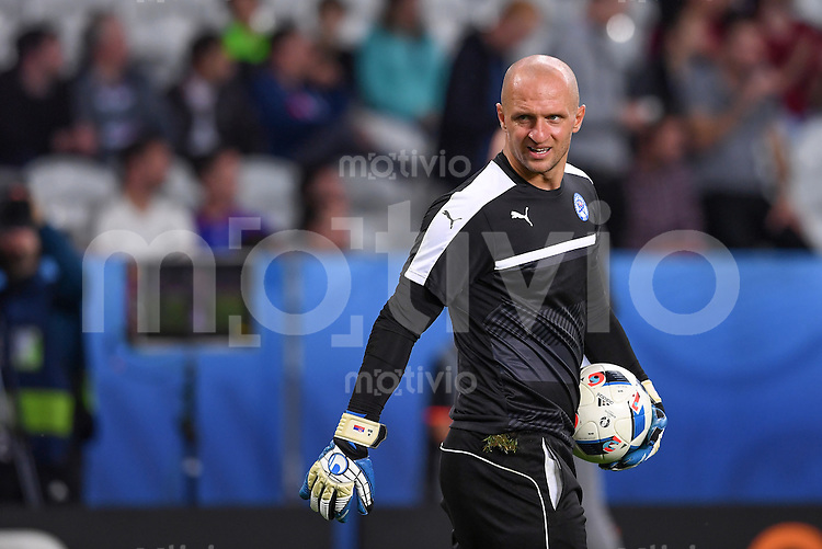 FUSSBALL EURO 2016 GRUPPE B IN LILLE Russland - Slowakei     15.06.2016 Torwart Jan Mucha (Slowakei)