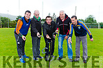 Jerry Kelly, Denis hickey, Johnny Courtney, Paudie Horan and Jason O'Donoghue tossing the horse shoes at the Glenflesk GAA anniversary celebrations on Sunday