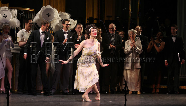 Rachel York & Ensemble.during the final performance Curtain Call for the New York City Center ENCORES! Production of 'Gentlemen Prefers Blondes' at City Center in New York City on 5/13/2012.