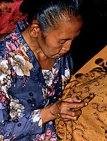 The traditional fine art of making Batik in Jogjakarta, Indonesia