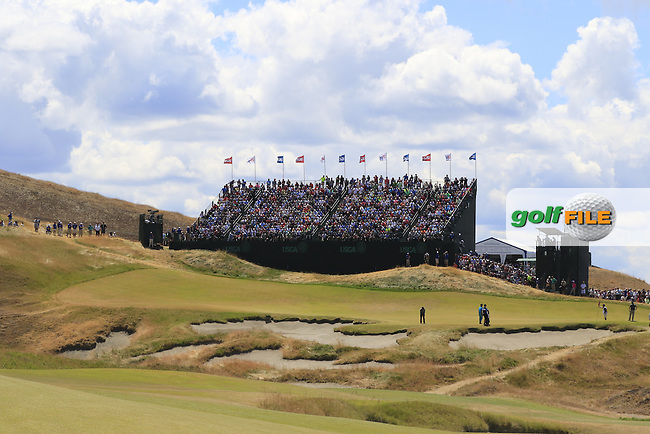The 9th hole during Friday's Round 2 of the 2015 U.S. Open 115th National Championship held at Chambers Bay, Seattle, Washington, USA. 6/19/2015.<br /> Picture: Golffile | Eoin Clarke<br /> <br /> <br /> <br /> <br /> All photo usage must carry mandatory copyright credit (&copy; Golffile | Eoin Clarke)