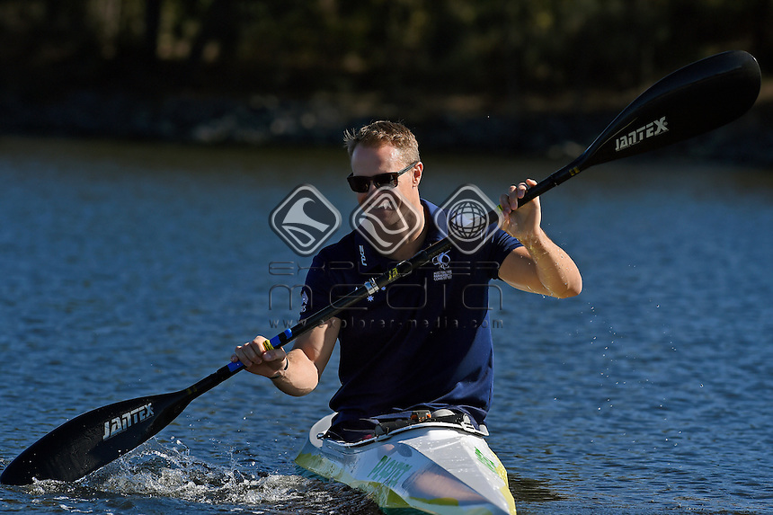 Para-Canoe / Curtis McGrath<br /> 2016 APC RIO Para-Canoe Team announcement<br /> Australian Paralympic Committee<br /> Varsity Lakes Sportshouse / Gold Coast<br /> QLD Thursday 16 June 2016<br /> &copy; Sport the library / Jeff Crow