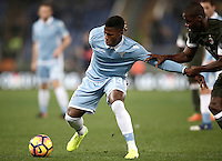 Calcio, Serie A: Lazio, Stadio Olimpico, 13 febbraio 2017.<br /> Lazio's Keita Balde (l) in action with Milan's Cristian Zapata (r) during the Italian Serie A football match between Lazio and Milan at Roma's Olympic Stadium, on February 13, 2017.<br /> UPDATE IMAGES PRESS/Isabella Bonotto