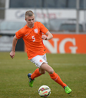 20150314 - GENDT , NETHERLANDS  : Dutch Rick Van Drongelen pictured during the soccer match between Under 17 teams of  The Netherlands and Northern Ireland , on the second matchday in group 3 of the UEFA Elite Round Under 17 at De Bataven Stadion , Gendt , The Netherlands . Saturday  14 th March 2015 . PHOTO DAVID CATRY