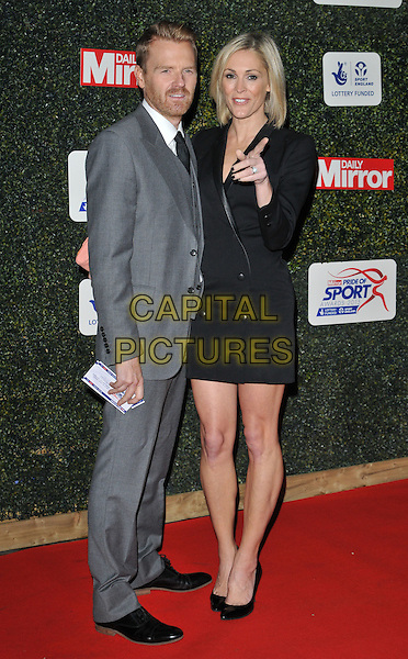 James Midgley &amp; Jenni Falconer attend the Daily Mirror Pride of Sport Awards 2015, Grosvenor House Hotel, Park Lane, London, England, UK, on Wednesday 25 November 2015. <br /> CAP/CAN<br /> &copy;Can Nguyen/Capital Pictures