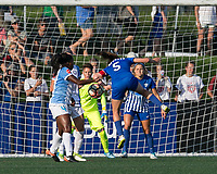 Allston, MA - Saturday August 19, 2017: Amanda DaCosta during a regular season National Women's Soccer League (NWSL) match between the Boston Breakers (blue) and the Orlando Pride (white/light blue) at Jordan Field.